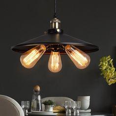 D45cm Customizing American Country Industrial Lamp Vintage RH Loft Warehouse Pendant Light 3 Heads Droplight Iron Art Lighting