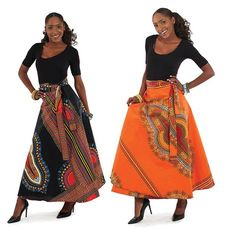 Beautiful, free flowing plus size African print wrap skirt. Skirt has two straps to tie off and is 43 inches wide by 44 inches in length. African Fashion Skirts, African American Fashion, African Fashion Designers, African Inspired Fashion, African Print Fashion, African Prints, African Outfits, African Clothes, African Fabric