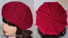Crochet Beret Pattern, Crochet Snowflake Pattern, Crochet Cap, Crochet Snowflakes, Granny Square Crochet Pattern, Crochet Beanie, Knitted Hats, Knitting Patterns, Crochet Patterns