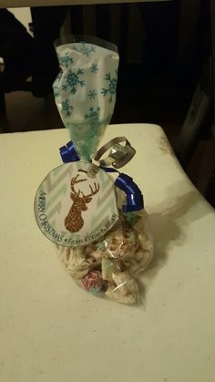 White chocolate chex mix goodie bags