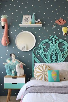 More Fun Childrens Bedroom Ideas for girls on the blog using mimilou decals | Kids Room | Kids Room Decorations | Kids Room Ideas | Interior Design | Styling | #kids #kidsroom #home #roomdecorations #styling #interiordesign | www.ministreetkidswear.com