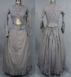 1880's, cotton summer dress.
