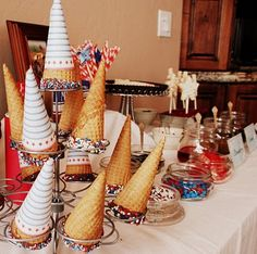 Instead of just having a wedding cake could also surprise your guests with an ice cream sundae bar at the reception.