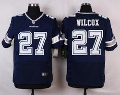 36fd3d6a0 Dallas Cowboys #27 J. J. Wilcox Navy Blue Team Color NFL Nike Men's Elite  Jersey