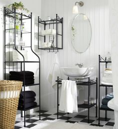 Complete the bathroom with elegant shelving