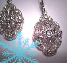 Gorgeous vintage diamond earrings!