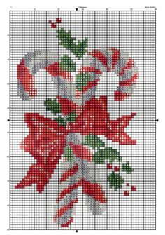 Candy cane cross stitch.