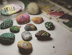Stones    #stones #art #painting #justforfun #artnight #cactus #artwork #colorfull #colours #paintstones