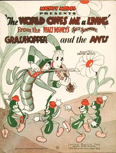 WALT DISNEY´S SILLY SYMPHONY: THE GRASSHOPPER AND THE ANTS // usa // Walt Disney  1934