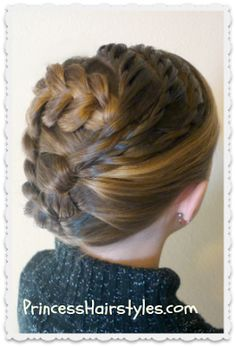 Swirling Braids Updo from Princess Hairstyles