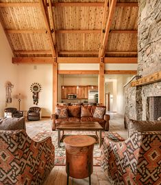 Stunning barn lounge interior