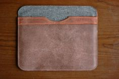 HARBINGER Leather & Upcycled  Wool Ipad by HarbingerLeatherDsgn, $45.00