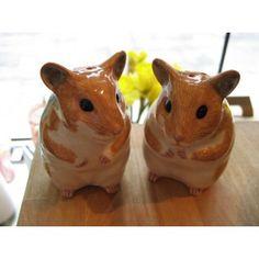 Ceramics Hamster Salt And Pepper Shakers. OMGGGGG ORDERING.