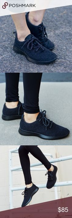Allbirds all black wool running tennis shoes Authentic. Brand new, without box. I have multiple colors and sizes of Allbirds for sale so make sure to check out my other listings as well.   This listing is for women's all black allbirds. Sizes available: 6, 7, & 10. (I do have these in size 8 & 9 with a different textured sole.)  Allbirds are unisex! Men's sizes are 1.5 larger than women's so take that into consideration. If you wear a half size then please round up. TIME has dubbed these…