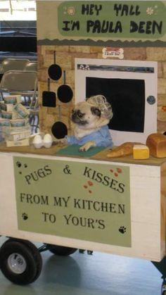 Paula Deen as a pug