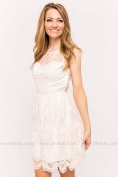 Madeline Lace Bridesmaid Dress in Cream