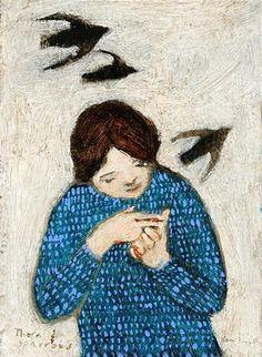 Brian Kershisnik forgotten flock...painting