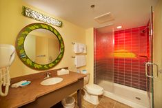 The Lion King Wing at Disney's Art of Animation Resort.  Love that shower!!