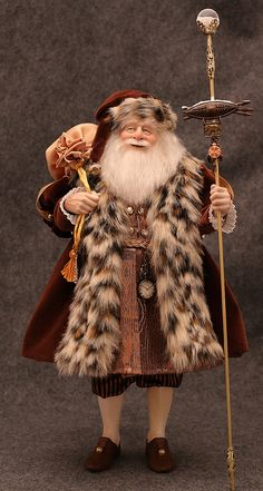 Santa Doll - Art Dolls - Santa Africa by Kat Soto for The Dollsmith [sold]
