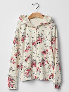 Spring print zip hoodie Product Image