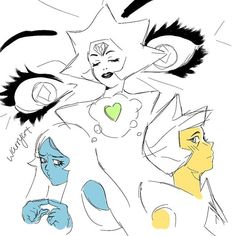 its only when white diamond isn't around that they can have their moments together . Steven Universe Ships, Pink Diamond Steven Universe, Steven Universe Memes, Pink Diamond Su, Yellow Diamonds, Green Diamond, Diamond Authority, Greg Universe, Manga Artist