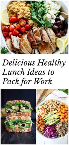 Delicious healthy lunch ideas to pack for work! Plenty of salad & sandwich recipes to keep you inspired in the kitchen.
