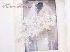 Wedding Lace with Swarovski Pearl Hair Comb Hair Comb Bridal Hair Comb Wedding Jewelry Hair Accessory Bridal Jewelry