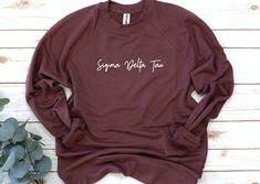 Alpha Phi Omega, Alpha Epsilon Phi, Alpha Sigma Alpha, Gamma Sigma Sigma, Kappa Kappa Gamma, Sorority Shirts, Women's Shirts, French Terry, Script