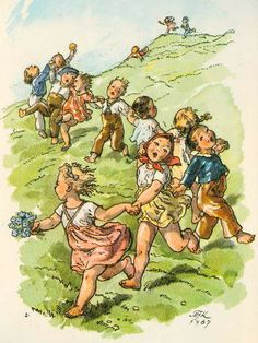 Marie Kvěchová-Fischerová 1967 Carl Larsson, Paintings I Love, Old Postcards, Stories For Kids, Fairy Tales, Images, Illustration Art, Retro, Grandkids