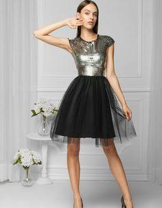 Sukienka tiulowa srebrna | monnom boutique | SHOWROOM