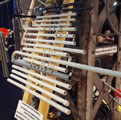 Flute stand at @BraderieDeLArt #pvcflute #homemadeinstruments #diy
