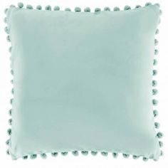 Baby Blue Velvet Pillow cover by ChesapeakeCottage on Etsy