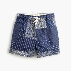 J.Crew - Boys' dock short in patchwork bandana