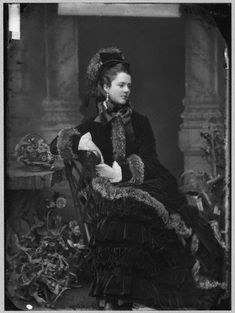 Ensemble ca. 1874     from The Met    Georgina Elizabeth (née Moncreiffe), Countess of Dudley, circa 1870s.