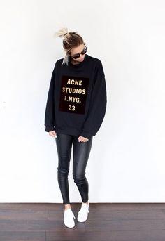 Acne Studios Jumper and leather leggings