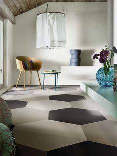 carrelage dalle beton type carreaux ciment Revêtement Magasin carrelage, parquet, sanitaire Var 83 - Orange & Clémentine