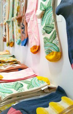 Beautiful & vibrant socks by #bonnemaisonfr  www.made-gallery.com