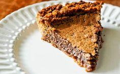 it's rich, creamy chocolate center and crisp top. It's a chocoholics dream pie by any way, shape or form