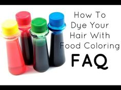 FAQ: How To Dye Your Hair With Food Coloring