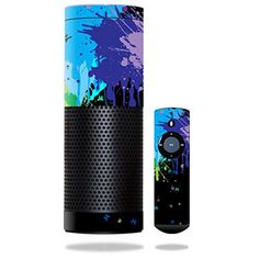 MightySkins Protective Vinyl Splatter Skin - www.theteelieblog.com Play with color into your home with Alexa. #alexaskin