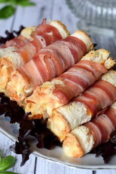 Five Best Bacon Wrapped Appetizers - Useful Articles Bacon Wrapped Appetizers, Best Appetizers, Appetizer Recipes, No Salt Recipes, Cooking Recipes, Bacon In The Oven, Best Bacon, Pub Food, Smoked Bacon