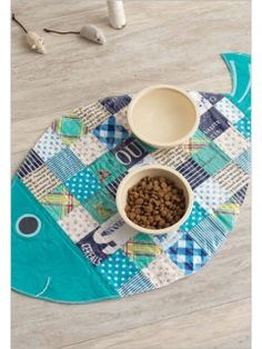 Patchwork Cat Mat- no tutorial, just an idea