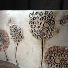 rustic dandelions ceramic curve detail by Charlotte Hupfield