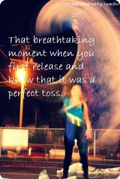 That breath taking moment when you first release and know it was a perfect toss.