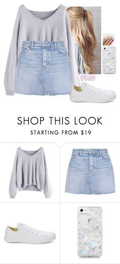"""Untitled #5999"" by hannahmcpherson12 ❤ liked on Polyvore featuring GRLFRND, Converse and Skinnydip"