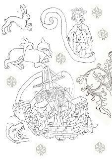 Albertus Pictor figurer från Uppländska kyrkor att färglägga..Varsågoda