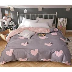 Dream Bedroom, Girls Bedroom, Bedroom Decor, Cotton Bedding Sets, Quilt Cover Sets, Home Textile, Textile House, Bed Covers, Luxury Bedding