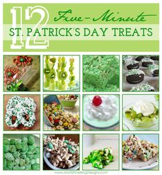 5-minute St. Patrick's day Recipes..perfect for making that last minute treat!