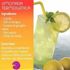 Uma limonada geladinha neste calor é sempre bem vindo!! E ainda sendo termogênico vai ajudar você a perder um pouco de peso.⠀ Vida saudável…