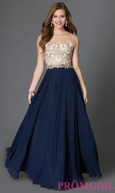 Sleeveless Prom Dress with Embroidered Lace Embellished Sheer Bodice DQ-9247